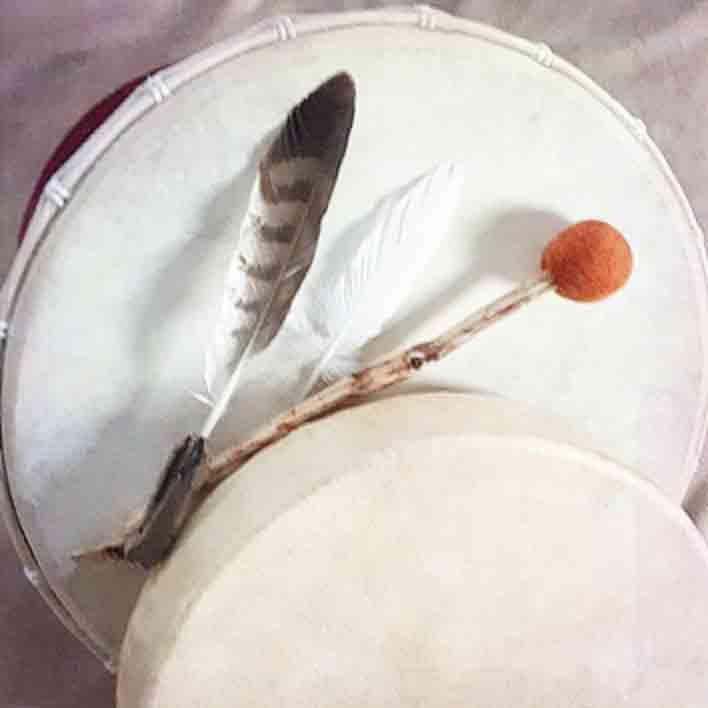 schamanische Trommel - Bestandteil für die schamanische Einzelsitzung (Fernbehandlung)