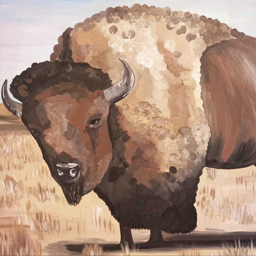 Zeichnung eines Büffels - Krafttier finden